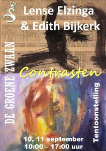 Contrasten, Lense Elzinga & Edith Bijkerk @ De Groene Zwaan   De Rijp   Noord-Holland   Nederland