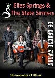 Elles Springs & The State Sinners @ De Groene Zwaan | De Rijp | Noord-Holland | Nederland