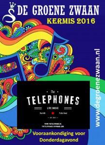 The Telephones, kermis 2016 @ De Groene Zwaan   De Rijp   Noord-Holland   Nederland