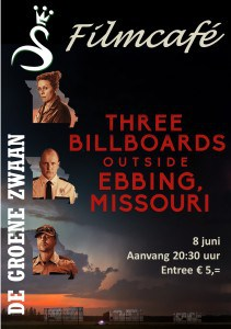 Filmcafé: Three billboards outside Ebbing Missouri @ De Groene Zwaan | De Rijp | Noord-Holland | Nederland