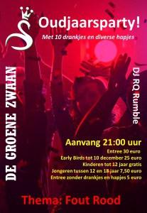 Oudjaarsavond 2018 @ De Groene Zwaan | De Rijp | Noord-Holland | Nederland