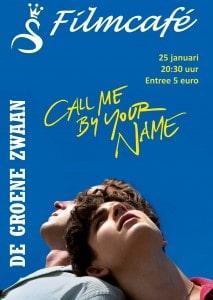 """Filmcafé: """"Call me by your name"""" @ De Groene Zwaan"""