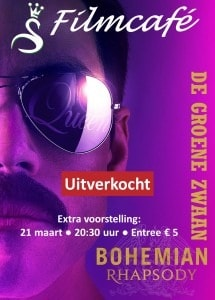 """Extra voorstelling: """"Bohemian Rhapsody"""" @ De Groene Zwaan"""
